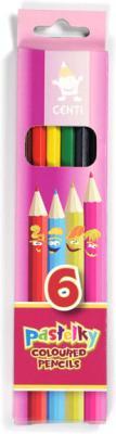 Карандаши цветные KOH-I-NOOR Centi, 6 цветов, грифель 2,65 мм, заточенные, европодвес, 2141006002KS