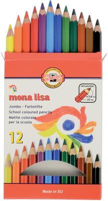 Карандаш цветной Koh-i-Noor Mona Lisa 3372012007KS 12 шт 175 мм утолщенные