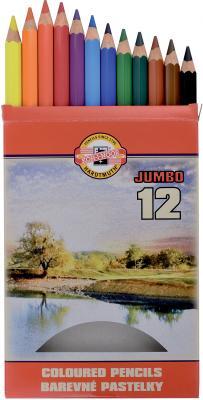 Набор цветных карандашей Koh-i-Noor JUMBO OMEGA 3372012016KS 12 шт 175 мм