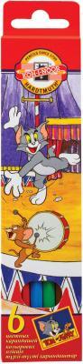 Набор карандашей Koh-i-Noor Tom and Jerry 6 шт 175 мм набор цветных карандашей koh i noor животные 6 шт односторонние 3551 6 8 ks 3551 6 8 ks