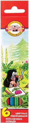 Набор цветных карандашей Koh-i-Noor Крот 6 шт 175 мм набор цветных карандашей koh i noor света 6 шт 17 5 см 3651 6 27ks 3651 6 27ks