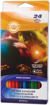 Набор цветных карандашей Koh-i-Noor Космическая одиссея 24 шт 175 мм
