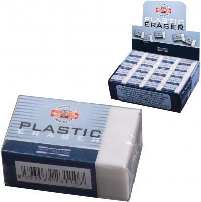 Резинка стирательная Koh-i-Noor Plastic 1 шт прямоугольный резинка стирательная koh i noor natural 1 шт прямоугольный