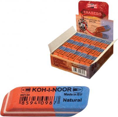 Резинка стирательная Koh-i-Noor Natural 1 шт прямоугольный резинка стирательная koh i noor natural 1 шт прямоугольный