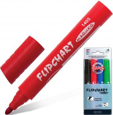 Набор маркеров для флипчарта Koh-i-Noor 771405JD03PKRU 2.5 мм 4 шт красный зеленый синий черный