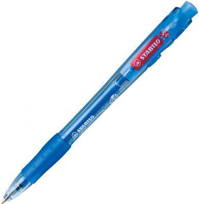 Ручка шариковая автоматическая Stabilo Marathon синий 0.38 мм stabilo ручка гелевая автоматическая stabilo palette xf синяя корпус синий