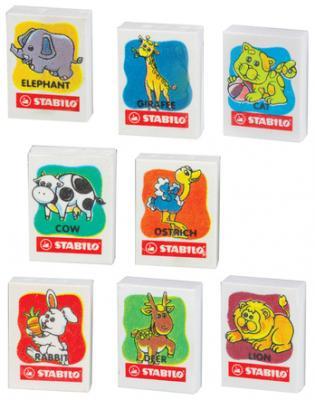 Резинка стирательная Stabilo Животные 1 шт прямоугольный резинка стирательная maped essentials soft 13 1 шт прямоугольный