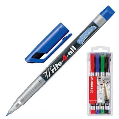 Набор маркеров Stabilo 150938 0.7 мм 4 шт черный зеленый синий красный набор маркеров stabilo plan 4 шт page 9