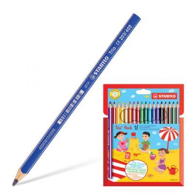 Набор цветных карандашей Stabilo Trio 203/18 18 шт утолщенные 181106