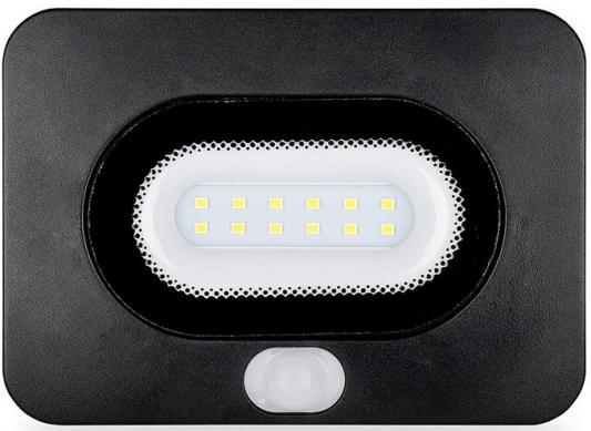 цена на Светодиодный прожектор WOLTA LFL-10/05s с датчиком движения, 5500K, 10W SMD, IP 65,цвет чёрный, сл