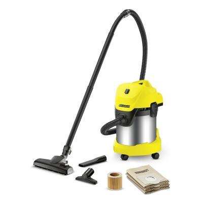 лучшая цена Пылесос Karcher WD 3 Premium Home сухая влажная уборка стальной жёлтый