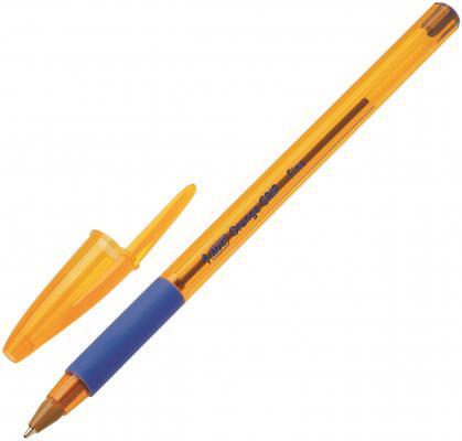 Шариковая ручка шариковая BIC Orange Grip синий 0.3 мм bic ручка шариковая kids twist цвет корпуса розовый