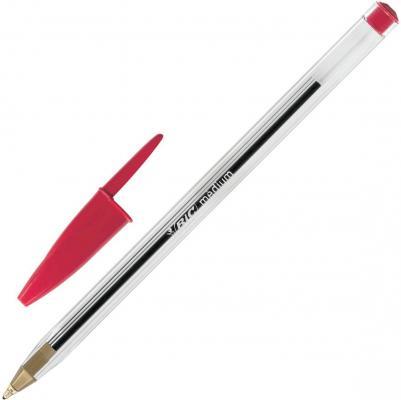Ручка шариковая BIC Cristal красный 0.4 мм bic kids ручка шариковая bp clic boy blu
