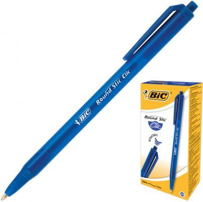 Ручка шариковая автоматическая BIC Round Stic Clic, корпус тонированный синий, узел 1 мм, линия 0,32 мм, синяя, 926376 ручка шариковая автоматическая bic 4 colours ассорти 0 32 мм