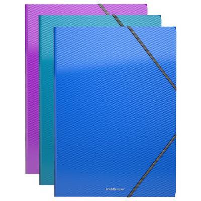 "Папка на резинках ERICH KRAUSE ""Glance Vivid"", А4, до 300 листов, 400 мкм, ассорти, 43398 erich krause папка на резинках arlecchino формат a5"