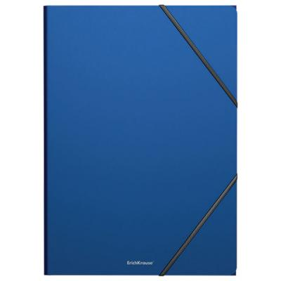 "Папка на резинках ERICH KRAUSE ""Classic"", А4, до 300 листов, 400 мкм, синяя, 47190 erich krause папка на резинках arlecchino формат a5"
