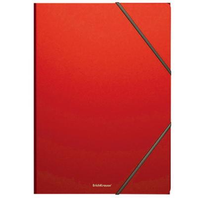 """цена на Папка на резинках ERICH KRAUSE """"Classic"""", А4, до 300 листов, 400 мкм, красная, 43095"""