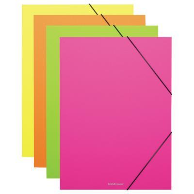 """Папка на резинках ERICH KRAUSE """"Glance Vivid"""", А4, 6 отделений, до 300 листов, 600 мкм, ассорти, 43117 erich krause папка на резинках arlecchino формат a5"""