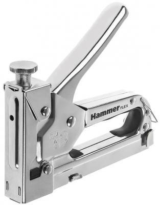 Степлер механический Hammer Flex  309-006 скобы П4-14мм (тип 53), с рег. удара