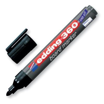Маркер для доски EDDING 360, 1,5-3 мм, круглый наконечник, черный, E-360/1 маркер edding e 8300 3 1 5 3mm blue 515938