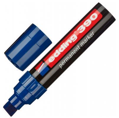 Маркер перманентный (нестираемый) EDDING 390, скошенный наконечник, 4-12 мм, синий, E-390/3