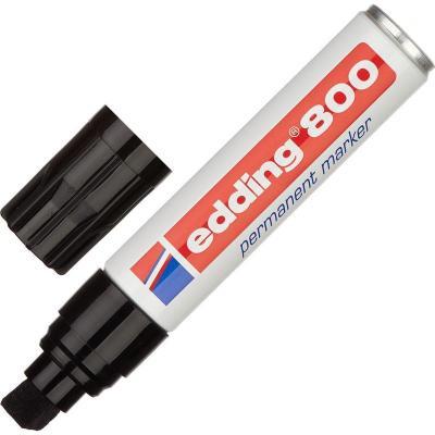 Маркер перманентный (нестираемый) EDDING 800, заправляемый, скошенный наконечник 4-12 мм, черный, E-800/1
