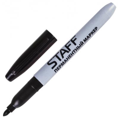 Маркер перманентный STAFF Маркер перманентный (нестираемый) 2 мм черный