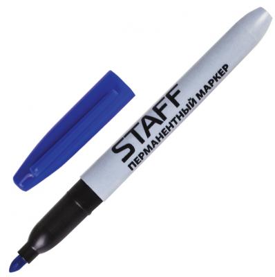 Маркер перманентный STAFF Маркер перманентный (нестираемый) 2 мм синий