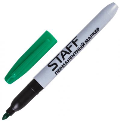 Маркер перманентный STAFF Маркер перманентный (нестираемый) 2.5 мм зеленый маркер перманентный index imp550 gn 4 мм зеленый