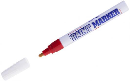 Маркер-краска лаковый MUNHWA PM-03 4 мм красный