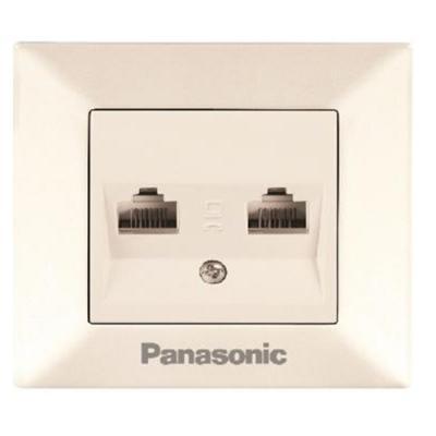 Розетка PANASONIC WMTC0404-2WH-RES Arkedia компьютерная RJ45, категория 5е, белая