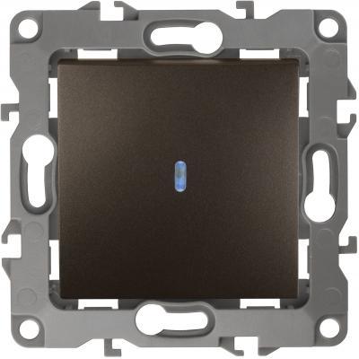 Выключатель с подсветкой ЭРА 12-1102-13 10АХ-250В, IP20, Эра12, бронза
