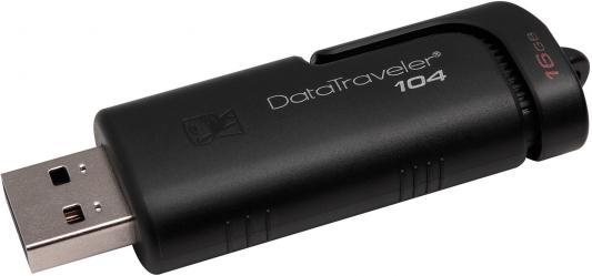 Флеш Диск Kingston 16Gb DataTraveler 104 DT104/16GB USB2.0 черный цены онлайн