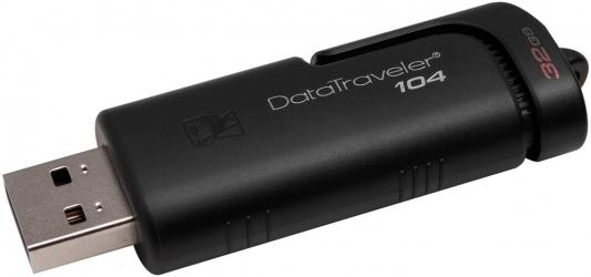 Флешка 32Gb Kingston DataTraveler 104 USB 2.0 черный DT104/32GB флешка usb 32gb sony usm32m1 черный