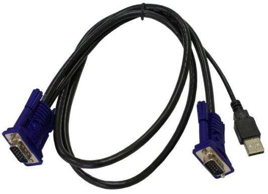 Кабель D-Link DKVM-CU/B1A 1.8м черный кабель d link dkvm ipvucb 10 кабель для kvm переключателя dkvm ip8 длиной 1 8 м с разъемами vga и usb 10шт в коробке