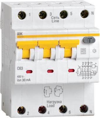 Iek MAD22-6-063-C-100 АВДТ 34 C63 100мА - Автоматический Выключатель Дифф. тока цена