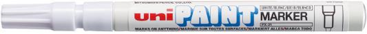 Маркер-краска лаковый (paint marker) UNI (Япония) Paint, белый, 0,8-1,2 мм, нитро-основа, алюминиевый корпус, PX-21(L) WHITE цена и фото