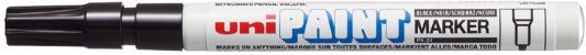 Маркер-краска лаковый (paint marker) UNI (Япония) Paint, черный, 0,8-1,2 мм, нитро-основа, алюминиевый корпус, PX-21(L) BLACK цена