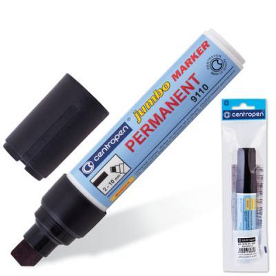 Маркер перманентный Centropen Jumbo 9110/Ч 2-10 мм черный 150567 маркер для доски centropen 8569 1ч 4 6 мм черный 8569 1ч