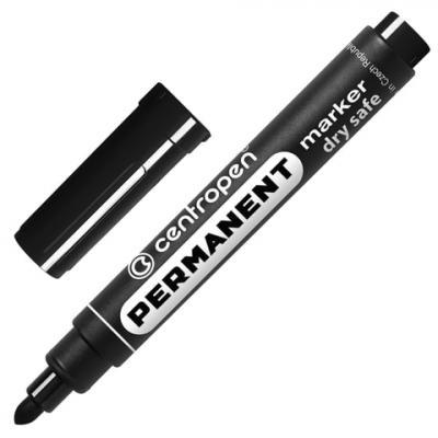 Маркер перманентный Centropen 8510/Ч 2.5 мм черный 151100 маркер для доски centropen 8569 1ч 4 6 мм черный 8569 1ч