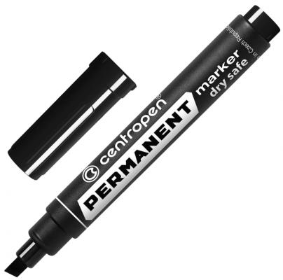 Маркер перманентный Centropen Маркер перманентный (нестираемый) 2-5 мм черный маркер для доски centropen 8569 1ч 4 6 мм черный 8569 1ч