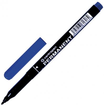 Маркер перманентный Centropen Маркер перманентный (нестираемый) 1 мм синий