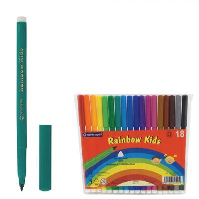 Фото - Набор фломастеров Centropen Rainbow Kids 7550/18 1 мм 18 шт 151181 centropen набор смываемых фломастеров colour world 18 цветов