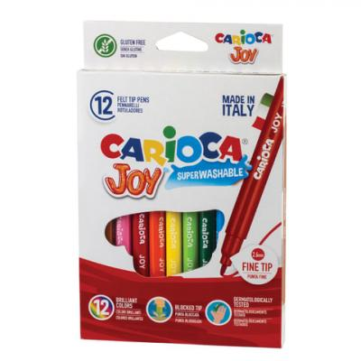 Набор фломастеров CARIOCA Joy2 40614 2.6 мм 12 шт 150107 carioca набор фломастеров carioca jumbo 12 цв в картонном конверте с европодвесом