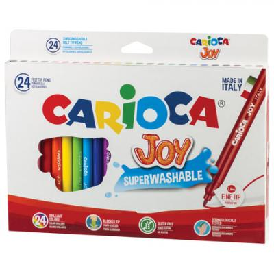 Набор фломастеров CARIOCA Joy 40615 2.6 мм 24 шт 150108 carioca набор фломастеров carioca joy 60 цв в чемоданчике картонном