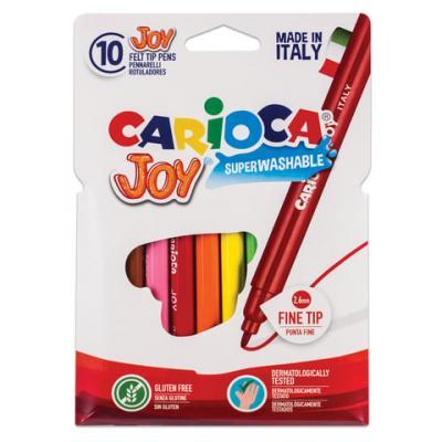Набор фломастеров CARIOCA Joy 40528 2.6 мм 10 шт 151217 carioca набор фломастеров carioca joy 60 цв в чемоданчике картонном