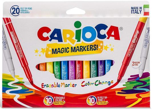 Набор фломастеров CARIOCA Magic 4 мм 20 шт 41369 набор фломастеров carioca neon 8 шт 42785