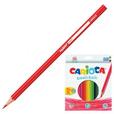 Набор цветных карандашей CARIOCA Карандаши 36 шт 175 мм carioca набор экстра крупных восковых карандашей baby для детей