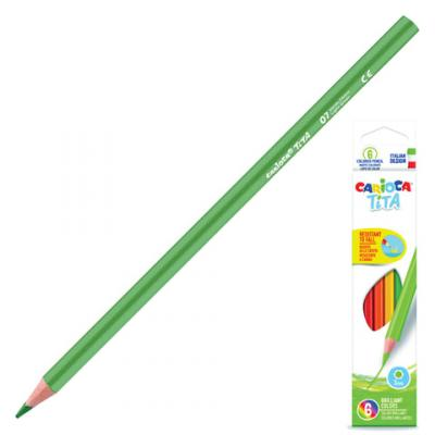 Набор цветных карандашей CARIOCA Tita 6 шт 174 мм carioca набор экстра крупных восковых карандашей baby для детей