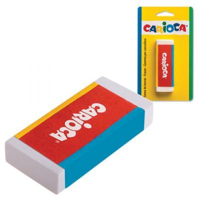 Резинка стирательная CARIOCA 40141 1 шт прямоугольный резинка стирательная maped essentials soft 13 1 шт прямоугольный